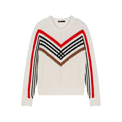 Twisted sweater with graphic motifs - Knitwear - MAJE
