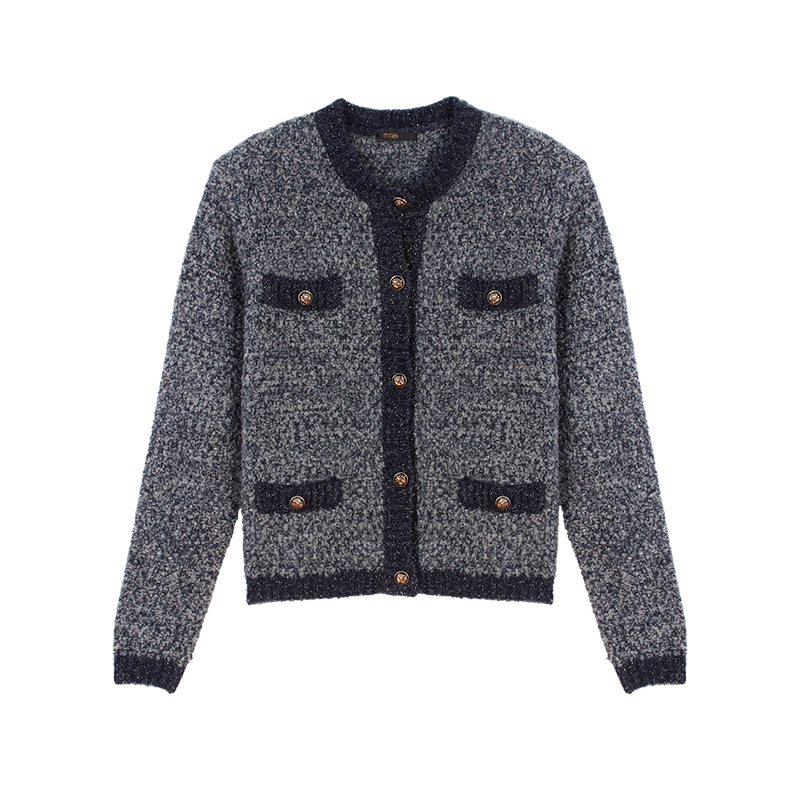 Fancy Lurex knit cardigan - Knitwear - MAJE