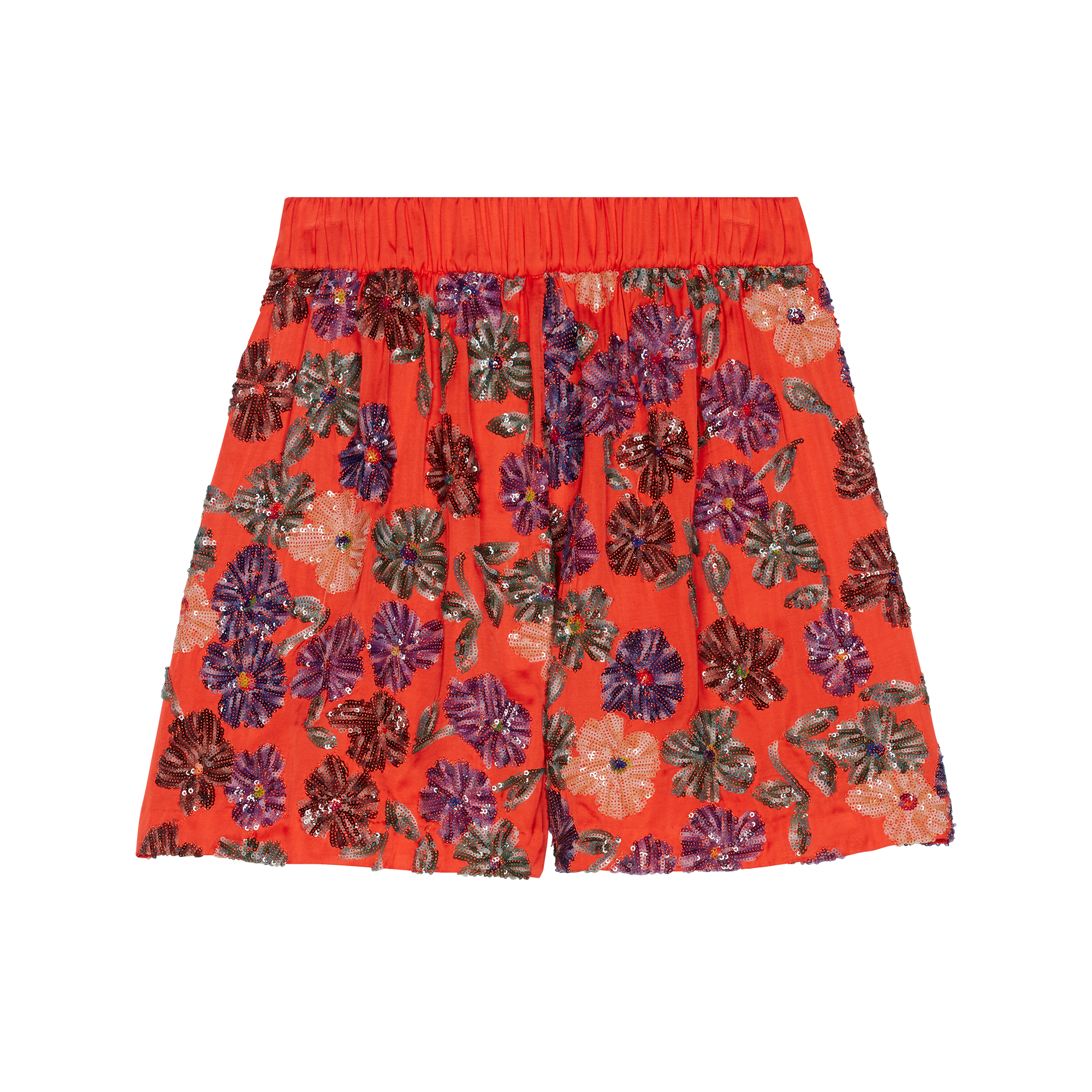 Shorts with sequin embroidery - Skirts & Shorts - MAJE