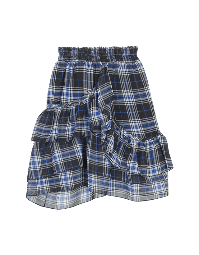 Frilled checked skirt - Skirts & Shorts - MAJE