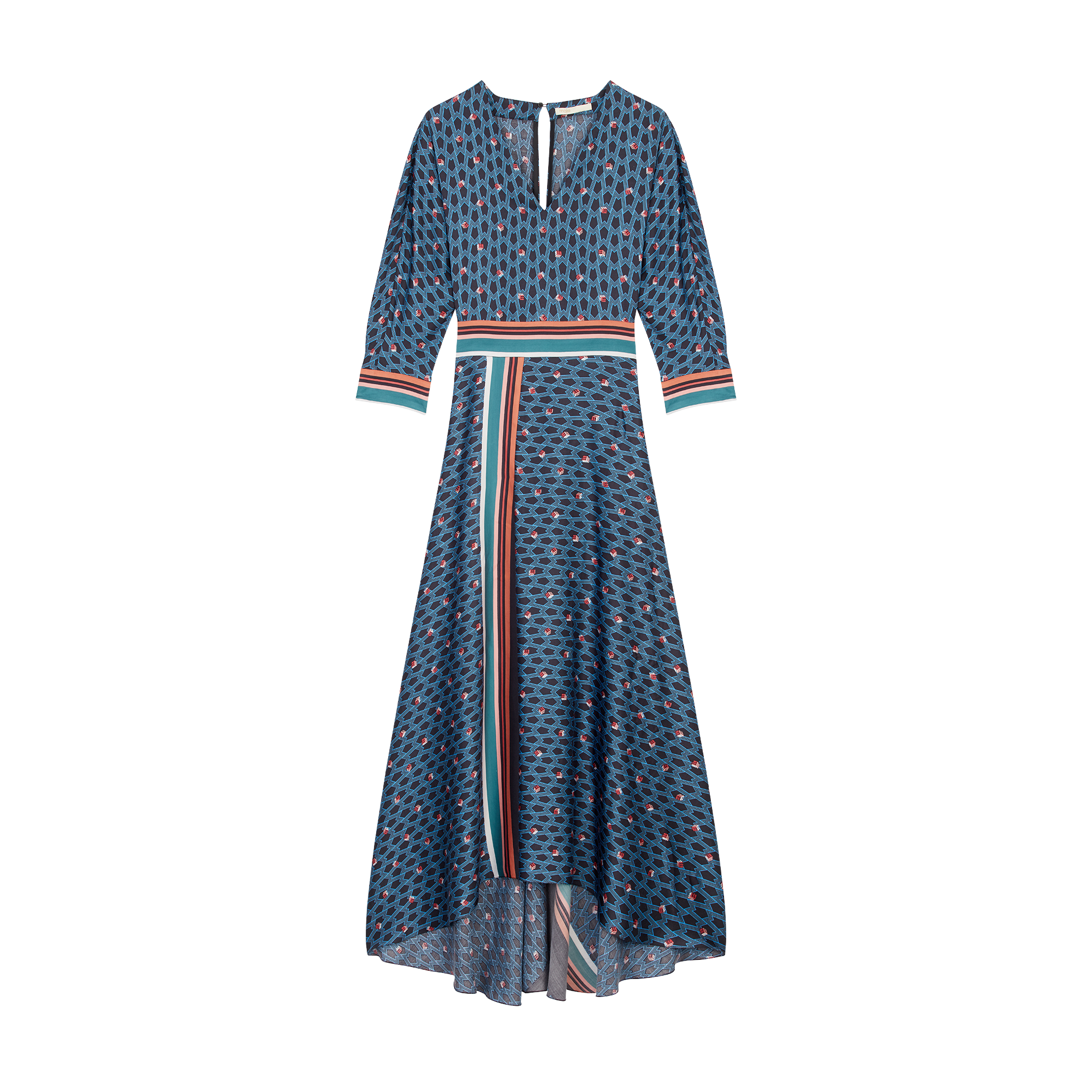 Long dress with monogram print - Dresses - MAJE