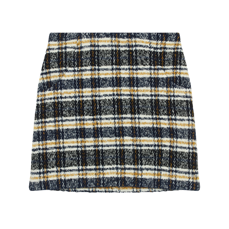 Short plaid skirt - Office girl - MAJE