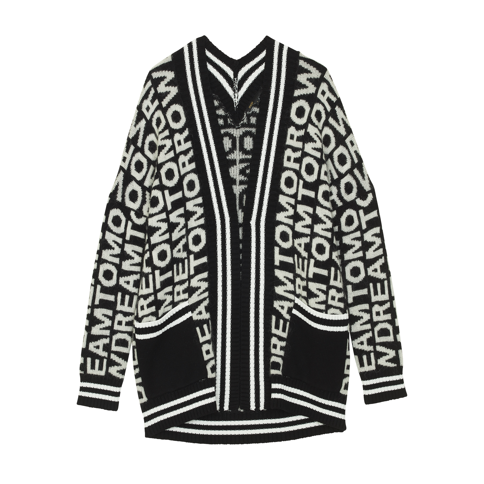 Oversize cardigan in novelty knit - Knitwear - MAJE