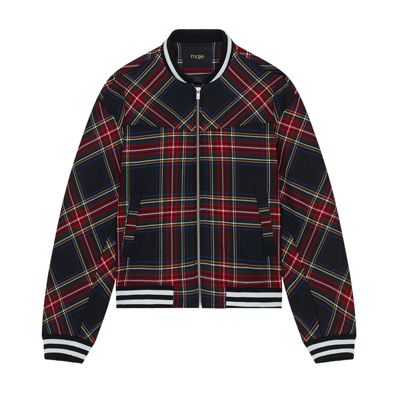 Plaid teddy - Jackets - MAJE
