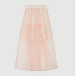 Long organza-style skirt